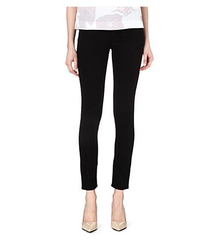 ARMANI JEANS Skinny mid-rise jeans (Black