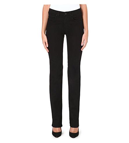 ARMANI JEANS Straight high-rise jeans (Black