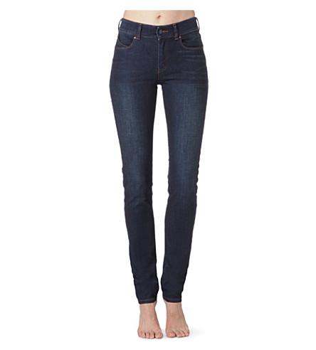 ARMANI JEANS J18 skinny high-rise jeans (Blue