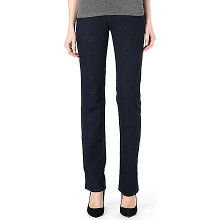 ARMANI JEANS Straight leg high-rise jeans (Blue