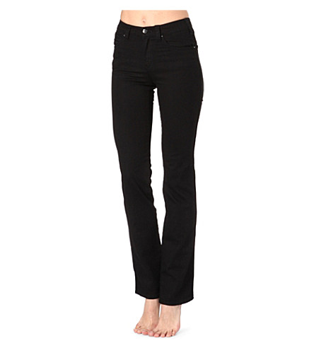 ARMANI JEANS JNS straight-leg high-rise jeans (Black
