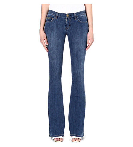 CURRENT/ELLIOTT Low Bell slim-fit mid-rise jeans (Atlantis