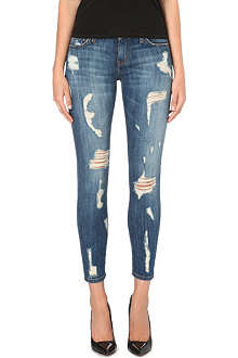 CURRENT/ELLIOTT The Stiletto skinny cropped mid-rise jeans