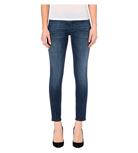 CURRENT/ELLIOTT The Stiletto skinny mid-rise jeans (Nightfade