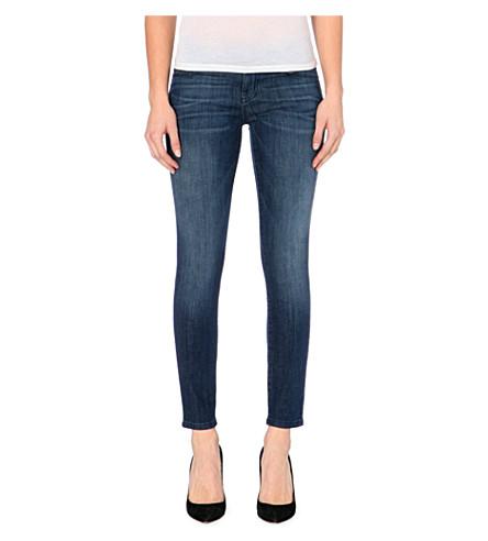 CURRENT/ELLIOTT The Stiletto skinny mid-rise jeans (Nightfade