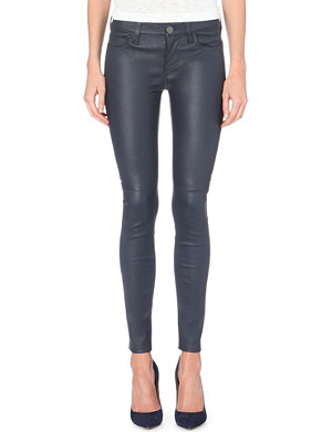 CURRENT/ELLIOTT The Ankle skinny mid-rise leather jeans