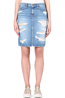 CURRENT/ELLIOTT The Stiletto denim pencil skirt