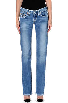 TRUE RELIGION Johnny slim-bootcut mid-rise jeans