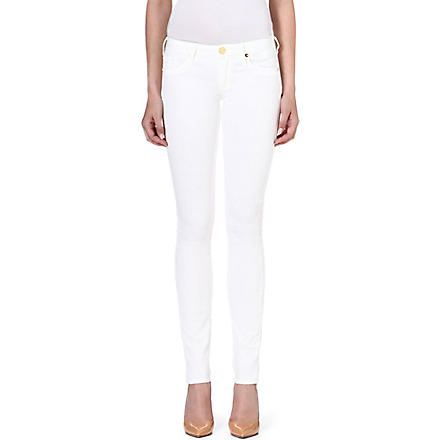 TRUE RELIGION Jude skinny low-rise jeans (White