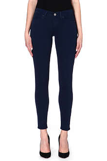 TRUE RELIGION Chrissy cropped skinny mid-rise jeans