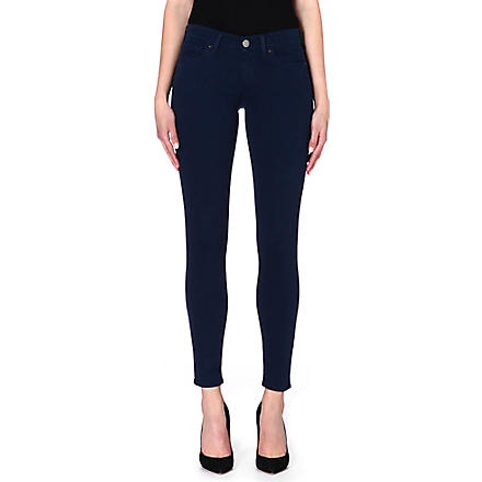 TRUE RELIGION Chrissy cropped skinny mid-rise jeans (Navy