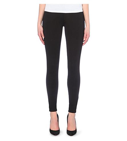 TRUE RELIGION Halle Ponte skinny mid-rise jeans (Black