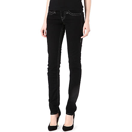 TRUE RELIGION Stella Super-T super-skinny low-rise jeans (Black