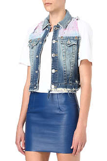 TRUE RELIGION Leah Galaxy denim gilet