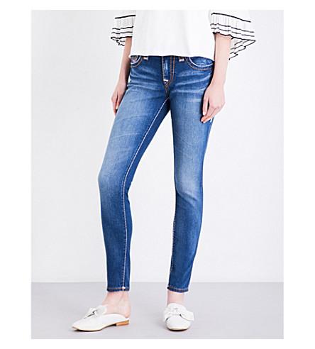 TRUE RELIGION Jenny Curvy skinny mid-rise jeans (Indigo+cad