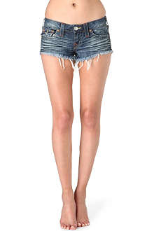 TRUE RELIGION Joey cut-off denim shorts