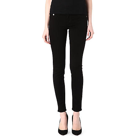 TRUE RELIGION Halle skinny high-rise jeans (Black