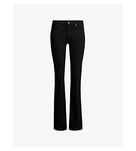 PAIGE地平线 bootcut 中腰牛仔裤 (黑色 + 阴影