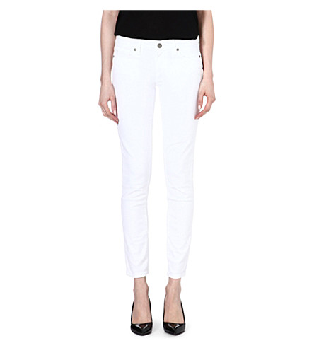 PAIGE DENIM Skyline skinny mid-rise jeans (Optic+white