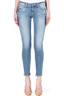 PAIGE DENIM Skyline cropped skinny mid-rise jeans