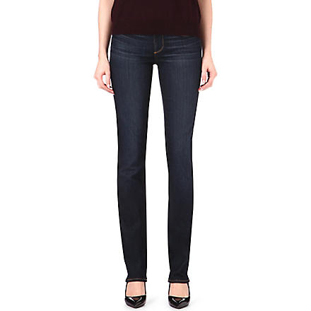 PAIGE DENIM Skyline straight-leg mid-rise jeans (Stream