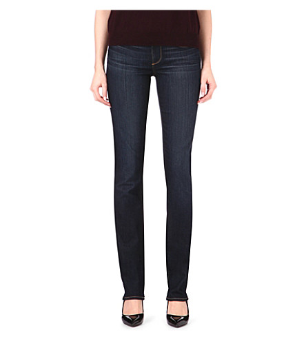 PAIGE DENIM Skyline straight mid-rise jeans (Stream