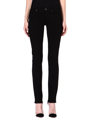 PAIGE DENIM Skyline straight-leg mid-rise jeans