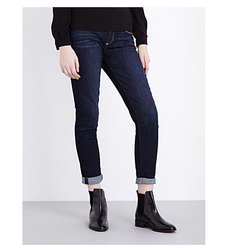 PAIGE DENIM Jimmy Jimmy turn-up boyfriend mid-rise jeans (Rebel
