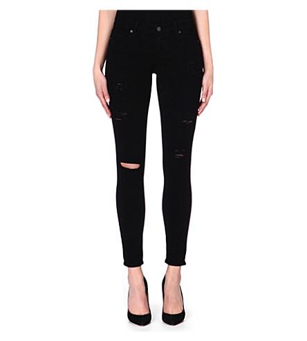 PAIGE DENIM Verdugo destructed super-skinny jeans (Black