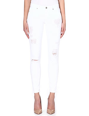 PAIGE DENIM Verdugo destructed super-skinny jeans
