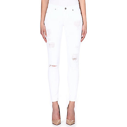 PAIGE DENIM Verdugo destructed super-skinny jeans (White