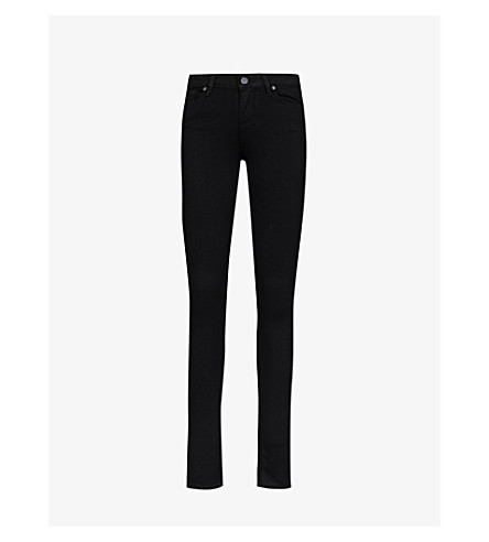 PAIGE DENIM Verdugo ultra-skinny mid-rise jeans (Black+shadow