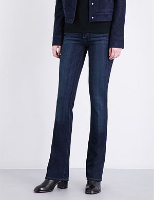 PAIGE DENIM Manhattan slim-fit bootcut mid-rise jeans