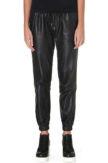 PAIGE DENIM Leather Jadyn jogging trousers