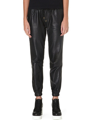 PAIGE DENIM Leather Jadyn jogging trousers