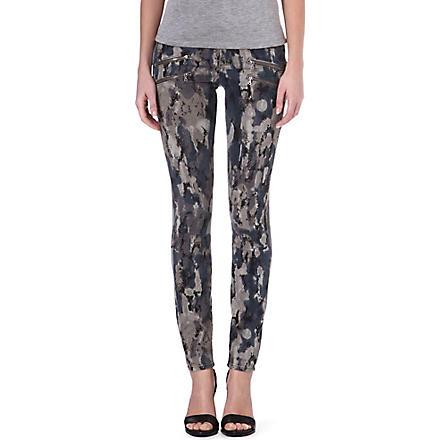 PAIGE DENIM Edgmont printed ultra-skinny mid-rise jeans (Madagascar