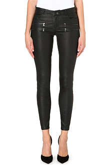 PAIGE DENIM Edgemont skinny leather trousers