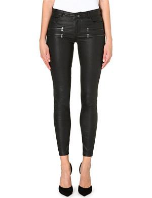PAIGE DENIM Edgemont skinny leather trousers