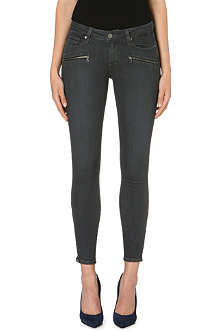 PAIGE DENIM Jane zip-detail ultra-skinny mid-rise jeans