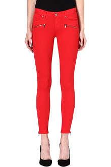 PAIGE DENIM Jane zip-detail skinny mid-rise jeans