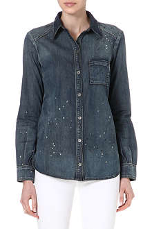 PAIGE DENIM Eden splatter denim shirt