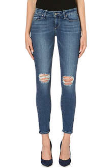 PAIGE DENIM Verdugo Ankle distressed skinny mid-rise jeans