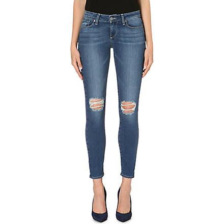 PAIGE DENIM Verdugo Ankle distressed skinny mid-rise jeans (Belmont
