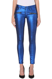 PAIGE DENIM Indio Zip skinny mid-rise jeans