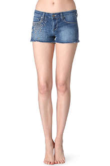 PAIGE DENIM Paxton studded denim shorts