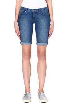 PAIGE DENIM Jax denim knee shorts