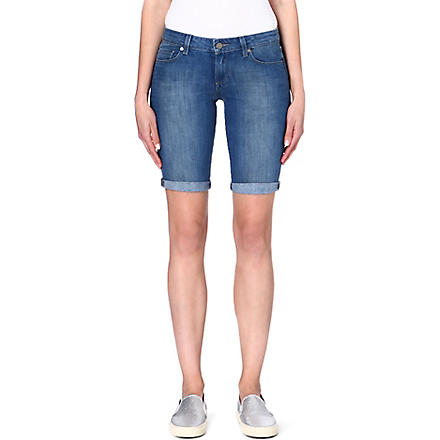 PAIGE DENIM Jax denim knee shorts (Ventura