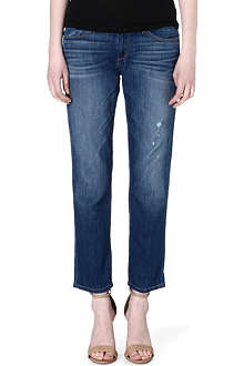 PAIGE DENIM Aero James cropped boyfriend mid-rise jeans