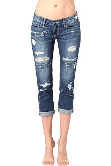 PAIGE DENIM James cropped distressed jeans