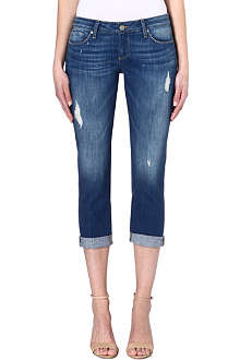 PAIGE DENIM Jimmy distressed cropped jeans